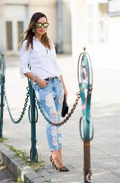 Jeans Ripped Trendy Womens Fashiongum Looks Cool