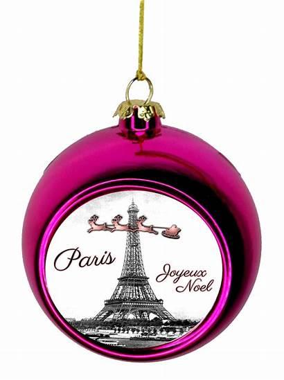 Paris Tower Themed Santa Tree Ornaments France