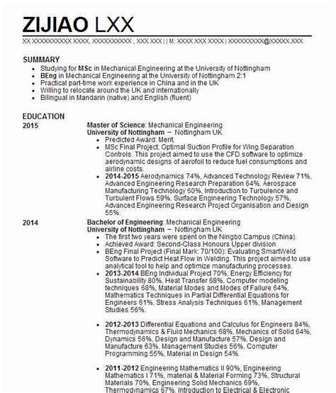 Mechanical Design Engineer Cv Sle by Resume For Mechanical Engineers