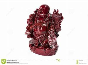 Statue Laughing Buddha - Budai Or Hotei. Isolated Cheerful ...