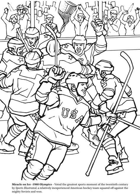 Kleurplaat Ijshockey by Goal The Hockey Coloring Book Dover Publications