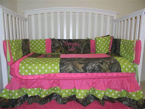 camo crib set camo mossy oak with lime polka dots and pink baby crib