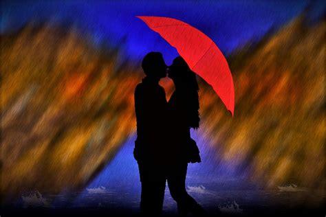 kostenlose illustration regen liebespaar mann frau