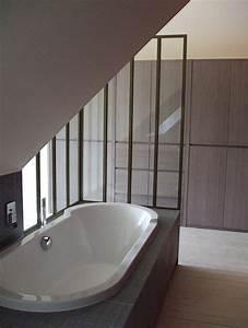 Baignoire Douche Enfant : baignoire encastr e sous la pente de toit salle de bain bathroom dream bathrooms et bathtub ~ Nature-et-papiers.com Idées de Décoration
