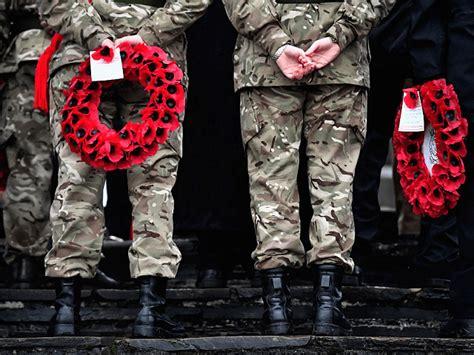 vicar bans onward christian soldiers hymn  remembrance