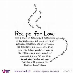 RECIPE FOR LOVE - Wall stickers - Vinyl decoration - Viart