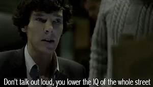 Sherlock Don'T Talk Out Loud GIF - Find & Share on GIPHY