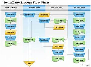 0814 Business Consulting Diagram Swim Lane Process Flow