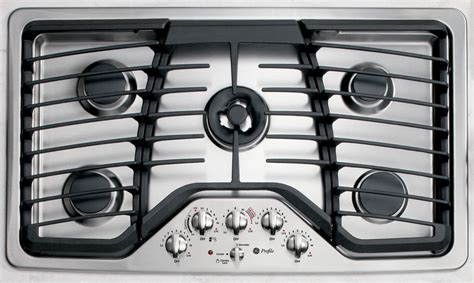ge profile series pgpsetss  gas cooktop stainless steel