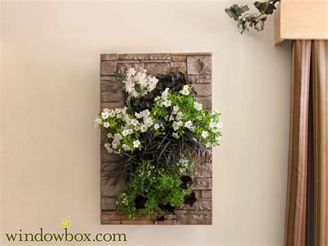 indoor living wall kit with modern frame stacked