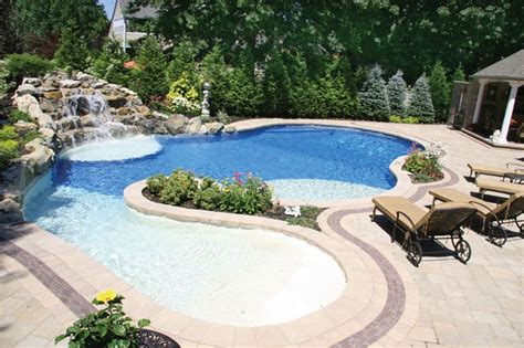 Love The Shallow End For The Kids!  Outside  Pinterest  Shallow, House Pools And Backyard