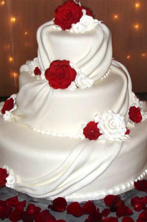 white  red drape wedding cake xtra special cakes