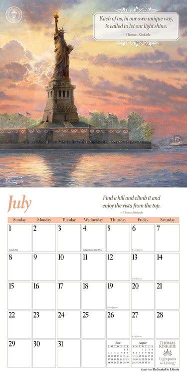thomas kinkade lightposts living calendars ukposters