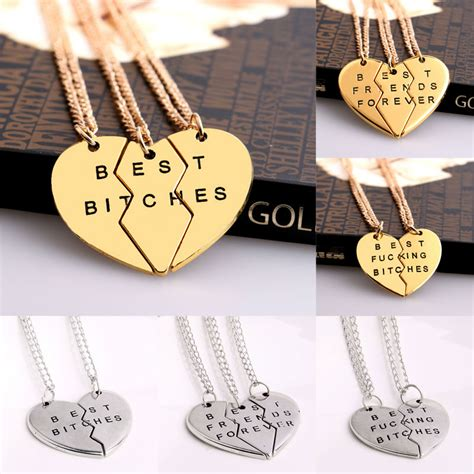 aliexpress buy gold and silver mens embossed sted aliexpress buy bespmosp 2 3 pcs broken heart pendant