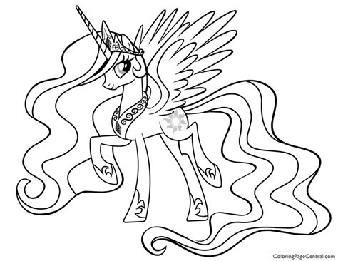 pony princess celestia  coloring page coloring page central