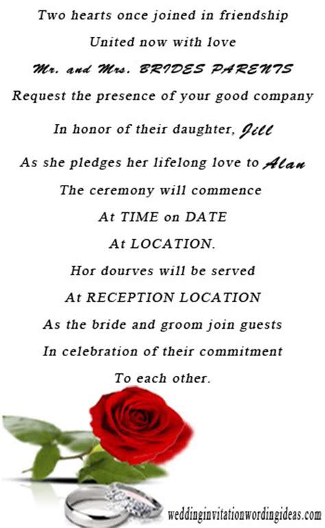 wedding invitation wording samples unique  elegant