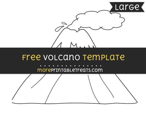 volcano template large letter  crafts
