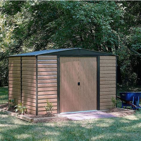 10x8 Woodvale Apex Metal Shed   Departments   DIY at B&Q