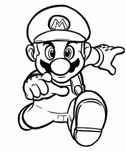 Mario Coloring Printable Bros Colouring Themes Ausmalbilder