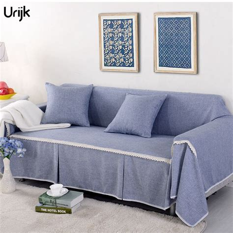 Quality Slipcovers by Urijk 1pc Pastoral Style Linen Cotton Fabric Sofa Cover