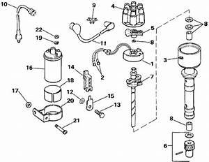 Omc Stern Drive Ignition  4 3 Litre 2v Models Only  Parts