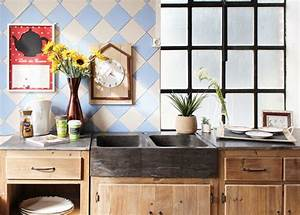 Cuisine En Bois Brut : meuble en bois brut ambiance nature ~ Teatrodelosmanantiales.com Idées de Décoration