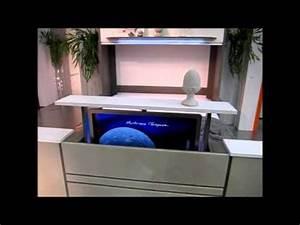 Lit Avec Tv Escamotable : lit escamotable et bureau coulissant fran ois desile youtube ~ Nature-et-papiers.com Idées de Décoration