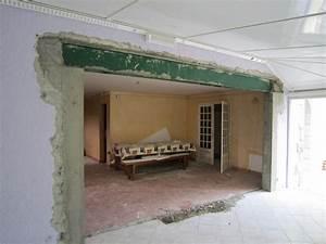 ouverture dans un mur porteur bricobistro With creer une porte dans un mur porteur