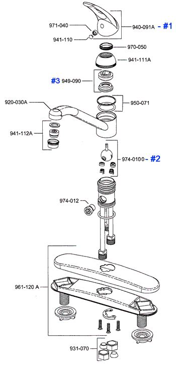 price pfister kitchen faucet parts diagram classic price pfister kitchen faucets