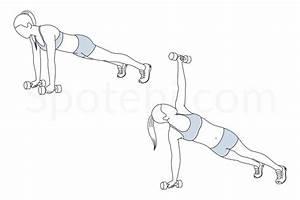 Dumbbell Plank Rotation