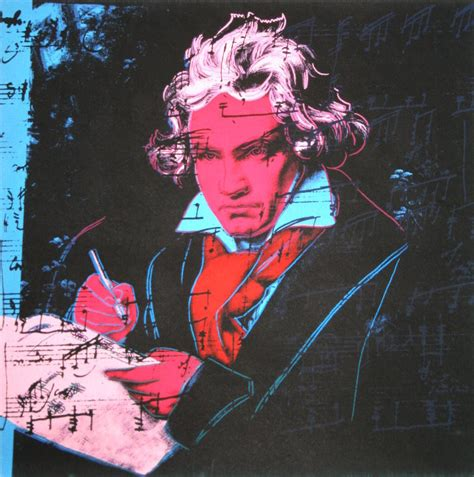 andy warhol poster beethoven red face