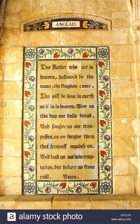 lords prayer plaque  english   church