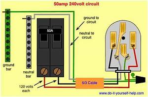 Wiring Diagram For A 50 Amp  240 Volt Circuit Breaker