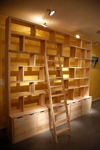 Bibliothèque Moderne Design : biblioth que contemporaine brick mod le xxl atelier pourquoi pas mobilier design sur mesures ~ Teatrodelosmanantiales.com Idées de Décoration