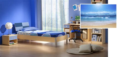 appealing blue themes guys bedroom decors with wooden