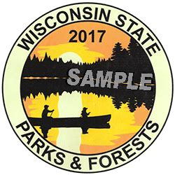 Wisconsin Boat Stickers by 2017 Wisconsin State Park Stickers On Sale Dec 1 Weekly