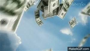 Money falling from the Sky - Cinama 4D Animation on Make a GIF