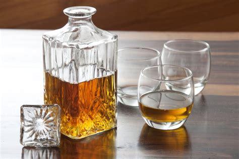 whiskey decanter  glasses  stock image