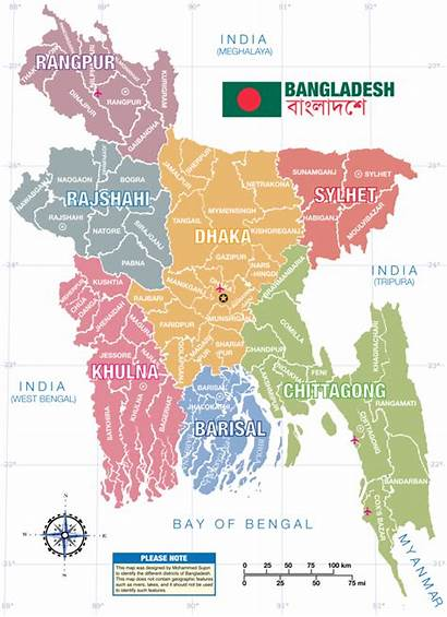 Bangladesh Map District Svg Bangladeshi Children Commons