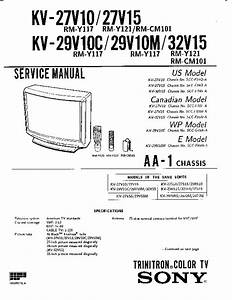 Sony Kv 29v10m Kv27v10 Pdf Diagramas De Televisores Lcd Y Plasma  U2013 Diagramasde Com  U2013 Diagramas