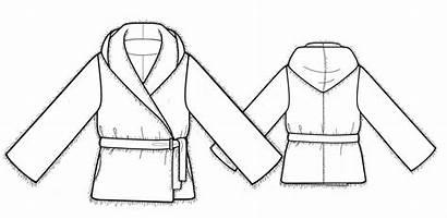 Pattern Fur Jacket Drawing Technical Sewing Lekala