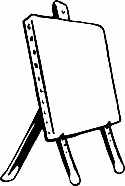 Easel Clipart Drawing Clip Coloring Wood Therapy