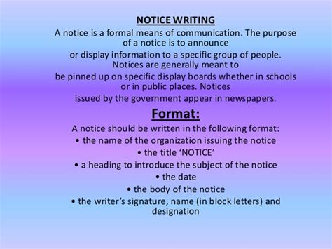 Report writing o level