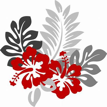 Grey Hibiscus Clip Right Clipart Clker Vector