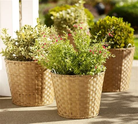 Outdoor Pottery Planters by Glenwillow All Weather Wicker Planter Contemporary
