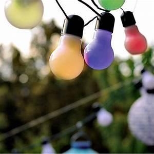 Guirlande Lumineuse Ampoule : decoration de salle guirlande lumineuse jolie guinguette ampoules multi ~ Teatrodelosmanantiales.com Idées de Décoration
