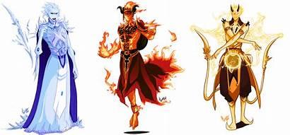 Elemental Mages Deviantart Fantasy Drawings