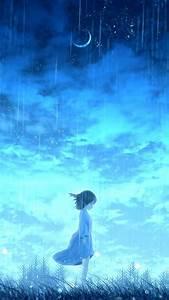 Anime, Lonely, Night, Girl, 4k, Ultra, Hd, Mobile, Wallpaper