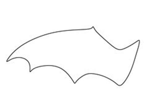 bat wing template wing pattern use the printable outline for crafts creating stencils scrapbooking and