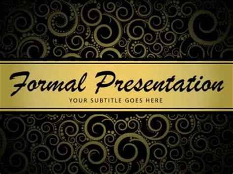 formal   powerpoint template